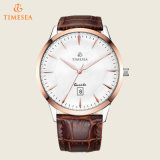 男性用日付の表示72458が付いている白いダイヤルの水晶腕時計