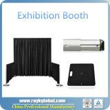 A tubulação da decoração de Backdrope e drapeja para a exibição do indicador da feira profissional