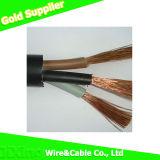 Isolation en PVC et gaine Câble électrique / électrique en cuivre flexible