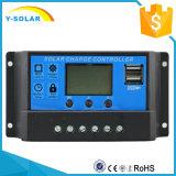 регулятор панели солнечных батарей 12V 24V 30A с двойным управлением Cm20k-30A светлого времени USB