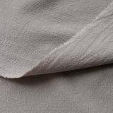 Tela arrugada lavada sólida 100% del algodón de la tela de algodón