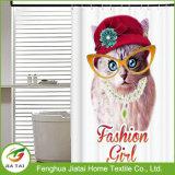 Hübscher kundenspezifischer kundenspezifischer niedlicher Katzen-Duschvorhang