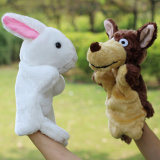 Juguete suave de las marionetas de la felpa de las muñecas animales de la mano para los niños