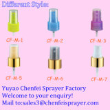 Bomba de pulverizador de perfume de diferentes tamaños de plástico para uso líquido