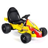 Elettrico Guidare-su colore giallo Car- Kart (due batteria di telecomando del giocattolo dei bambini del motore due)