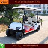 De nieuwe Model Elektrische Kar van Golf 4 Seater met de AchterZetels van de Tik