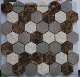 [بويلدينغ متريل] لون مختلطة سداسيّة طبيعيّ حجارة رخام فسيفساء لأنّ [فلوور تيل] ([فسك364])