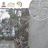 雪デザイン網のレースの刺繍ファブリックレース