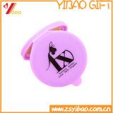 Miroir de main cosmétique de mini du miroir des femmes de fournisseur d'usine silicones ronds de poche