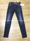 jeans neri delle signore 10.2oz (HYQ97-08GDT)