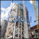 Alzamiento de la construcción de estante y del piñón del elevador de la nueva construcción 2017
