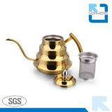 Il caffè molto popolare dell'acciaio inossidabile versa sopra la caldaia