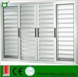 Aluminiumfenster und Tür, klassisches einzelnes Glas-glasierender Aluminiumluftschlitz Windows mit niedrigem Preis und Qualität