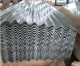 Hoja de acero acanalada revestida del cinc de aluminio de los materiales de construcción para el material para techos