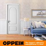 Дверь нутряной двери Singel лака Oppein белая деревянная плоская (MSPD74)