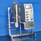 5 litres de fermenteurs en verre de stérilisation in situ (verticale de réservoir en verre de transmission magnétique)