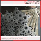 Apoyo de acero ajustable galvanizado del andamio para el encofrado