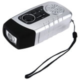 Camping Light com Solar Hand Crank FM Radio MP3 Player