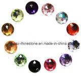 Cristal redondo del acrílico de los Rhinestones 30m m de la resina de la parte posterior plana (30m m FB-Redondos)