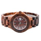 Het houten Horloge van het Sandelhout van de Gesp Rode