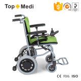 Súper ligero Fácil eléctrica plegable de sillas de ruedas eléctricas