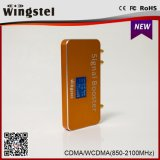 850 2100MHz GSM WCDMA 2g 3GのLCD表示が付いている移動式シグナルのアンプ