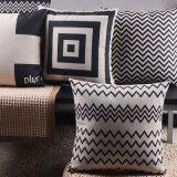 綿ソファのためのリネンプリント18X18インチの投球枕