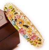 Kristalllegierungs-Weinlese-Blumen-Frauen-Armband 5colors