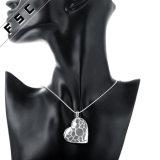 형식 보석 은에 의하여 도금되는 심혼 모양 하락 목걸이