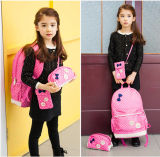 Backpack холстины девушок установил 3 сделанного по образцу части Backpack школы компьтер-книжки Bookbag