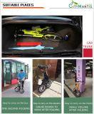 E-Bicicleta de dobramento do aço de carbono de 14 polegadas com bateria de lítio