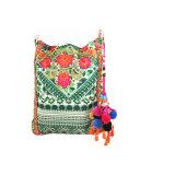 Form-gedruckte und gestickte Handtasche mit Troddel