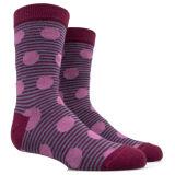 eine Kombination der Kreise und der Streifenpatten-Socke