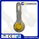 Dehnbar wir Typ Schrauben-Fessel mit Sicherungsstift galvanisiert (G2130)