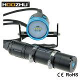 Linterna doble ligera de la luz Max4000lm Watrproof el 100-200m LED de la foto del salto del interruptor del color de Hoozhu Hv33 cuatro para el salto