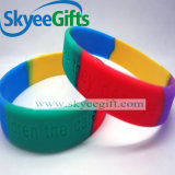 Wristbands segmentati all'ingrosso poco costosi del silicone di colore