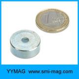 위쪽을 넓힌 구멍을%s 가진 고품질 남비 자석 네오디뮴 자석