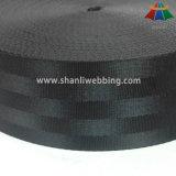 2.5 tessitura nera della cintura di sicurezza del poliestere di pollice 5-Panel