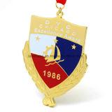 Medalla de encargo barata del recuerdo del oro del deporte del metal de la concesión del funcionamiento del maratón del esmalte de la aleación del cinc del fabricante de China ninguna orden mínima