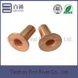 o cobre de 8X15mm chapeou o rebite de aço tubular cheio principal liso do forro de freio