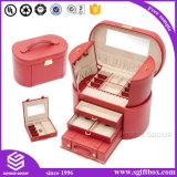 Роскошная коробка подарка ювелирных изделий кожи способа
