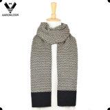 Sciarpa di inverno degli uomini del Knit 30%Wool 70%Acrylic del jacquard di modo