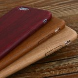 для древесины 6/6s/7/7 случая телефона iPhone добавочной, ультратонкий естественный деревянный случай телефона PU зерна