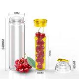 Garrafas de água alaranjadas plásticas novas de Infuser do suco de fruta do limão de Tritan
