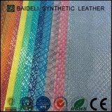 Metallisches synthetisches Leder des Schlange-Muster-PVC/PU für Dame Fashion Bag, Handbeutel, Mappe