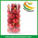 2017 bolas los 8cm plásticas de las decoraciones del árbol de navidad