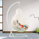 Oqoの屋外の藤の振動卵の椅子/庭の振動金属の屋外のテラスの家具/屋外の卵の椅子(D028)