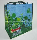 Sac non tissé laminé, sac recyclé, sac promotionnel, sac Cnavas, sac fourre-tout en coton, sac à provisions (MX-BG1065)