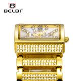 Reloj rectangular de la hebilla de la joyería de la joyería del ocio del reloj de lujo del cuarzo de la manera de Belbi