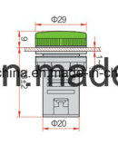 Tipo mais curto luz de indicador piloto do diodo emissor de luz com garantia de 5 anos